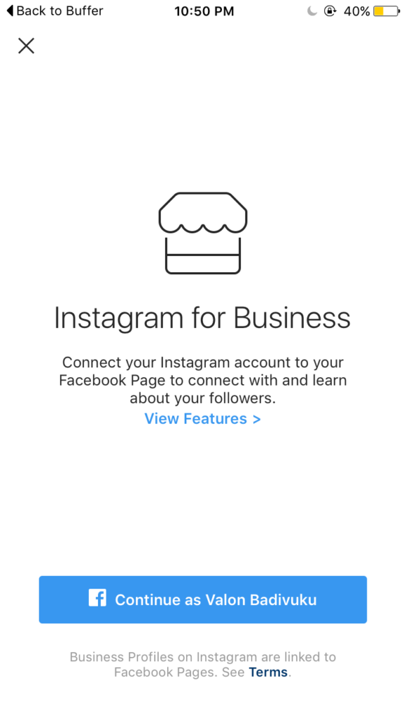 Step 3 - How do you convert personal Instagram profile to a Business Profile