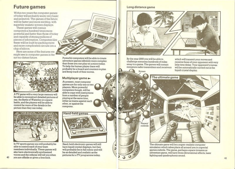 Illustration from 1982 about the Future of Gaming