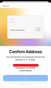 My Apple Card